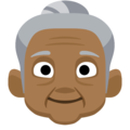 Old Woman: Medium-Dark Skin Tone on Facebook 2.2.1