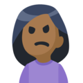 Person Frowning: Medium-Dark Skin Tone on Facebook 2.2.1