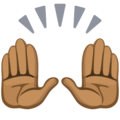 Raising Hands: Medium-Dark Skin Tone on Facebook 2.2.1