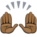 Raising Hands: Dark Skin Tone on Facebook 2.2.1