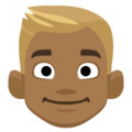 Blond-Haired Person: Medium-Dark Skin Tone on Facebook 2.2.1