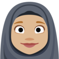 Person With Headscarf: Medium-Light Skin Tone on Facebook 2.2.1