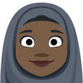 Person With Headscarf: Dark Skin Tone on Facebook 2.2.1