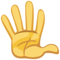 Hand With Fingers Splayed on Facebook 2.2.1