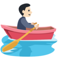Person Rowing Boat: Light Skin Tone on Facebook 2.2.1