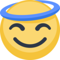 Smiling Face With Halo on Facebook 2.2.1