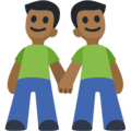 Men Holding Hands: Medium-Dark Skin Tone on Facebook 2.2.1