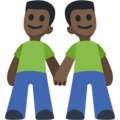Men Holding Hands: Dark Skin Tone on Facebook 2.2.1