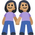Women Holding Hands: Medium Skin Tone on Facebook 2.2.1