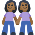 Women Holding Hands: Medium-Dark Skin Tone on Facebook 2.2.1