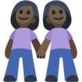 Women Holding Hands: Dark Skin Tone on Facebook 2.2.1