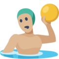 Person Playing Water Polo: Medium-Light Skin Tone on Facebook 2.2.1