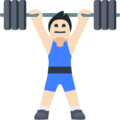 Person Lifting Weights: Light Skin Tone on Facebook 2.2.1
