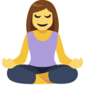 Woman in Lotus Position on Facebook 2.2.1