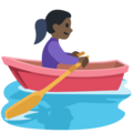 Woman Rowing Boat: Dark Skin Tone on Facebook 2.2.1