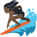 Woman Surfing: Dark Skin Tone on Facebook 2.2.1