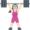 Woman Lifting Weights: Light Skin Tone on Facebook 2.2.1