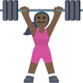 Woman Lifting Weights: Dark Skin Tone on Facebook 2.2.1