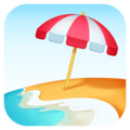 Beach With Umbrella on Facebook 3.0