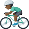 Person Biking: Dark Skin Tone on Facebook 3.0