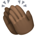 Clapping Hands: Dark Skin Tone on Facebook 3.0