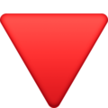 Red Triangle Pointed Down on Facebook 3.0