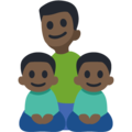 Family - Man: Dark Skin Tone, Boy: Dark Skin Tone, Boy: Dark Skin Tone on Facebook 3.0