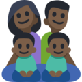 Family - Man: Dark Skin Tone, Woman: Dark Skin Tone, Boy: Dark Skin Tone, Boy: Dark Skin Tone on Facebook 3.0
