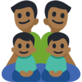 Family - Man: Medium-Dark Skin Tone, Man: Medium-Dark Skin Tone, Boy: Medium-Dark Skin Tone, Boy: Medium-Dark Skin Tone on Facebook 3.0