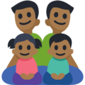 Family - Man: Medium-Dark Skin Tone, Man: Medium-Dark Skin Tone, Girl: Medium-Dark Skin Tone, Boy: Medium-Dark Skin Tone on Facebook 3.0