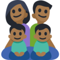 Family - Man: Medium-Dark Skin Tone, Woman: Medium-Dark Skin Tone, Boy: Medium-Dark Skin Tone, Boy: Medium-Dark Skin Tone on Facebook 3.0