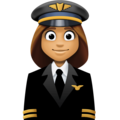 Woman Pilot: Medium Skin Tone on Facebook 3.0