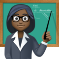 Woman Teacher: Dark Skin Tone on Facebook 3.0