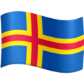 Flag: Åland Islands on Facebook 3.0