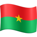 Flag: Burkina Faso on Facebook 3.0