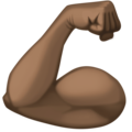 Flexed Biceps: Dark Skin Tone on Facebook 3.0