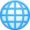 Globe With Meridians on Facebook 3.0