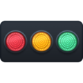 Horizontal Traffic Light on Facebook 3.0
