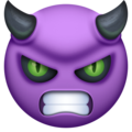Angry Face With Horns on Facebook 3.0