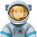 Man Astronaut: Light Skin Tone on Facebook 3.0