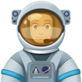 Man Astronaut: Medium-Light Skin Tone on Facebook 3.0
