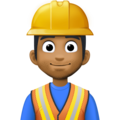 Man Construction Worker: Medium-Dark Skin Tone on Facebook 3.0