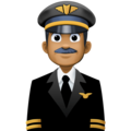 Man Pilot: Medium-Dark Skin Tone on Facebook 3.0
