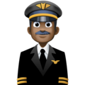 Man Pilot: Dark Skin Tone on Facebook 3.0