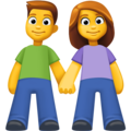Woman and Man Holding Hands on Facebook 3.0