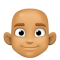 Man: Medium Skin Tone, Bald on Facebook 3.0