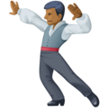 Man Dancing: Medium-Dark Skin Tone on Facebook 3.0