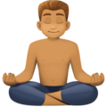 Man in Lotus Position: Medium Skin Tone on Facebook 3.0