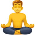 Man in Lotus Position on Facebook 3.0