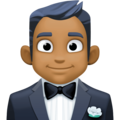 Man in Tuxedo: Medium-Dark Skin Tone on Facebook 3.0